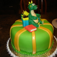 Dragon Cake Dragon is Molded chocolate
