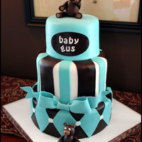 Blue, Brown & Bears Baby Shower Cake 3 tier baby shower cake made for one of my best friends. The baby's room is decorated in varying shades of blue, accented with bears....