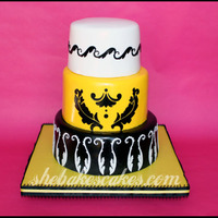 Yellow & Black Modern Wedding Cake I was asked to submit a photo for the current issue of Cake Central magazine. Unfortunately I was in the middle of a move and had only 1...