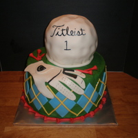 Golf   Based on cakes seen on Cake Central - Thank you!