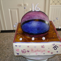 Purple Basket Ball Cake This is my first cake i have ever sold! I was asked to make a girly basket ball themed cake for a sweet 16! I had alil trouble coming up...