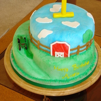 John Deer This is the cake i made for my god sons 1st birthday!