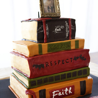 Stack Of Books Wedding Cake This was for a wedding, basically the only detail I had about the wedding was that they were decorating with old vintage books. so I went...