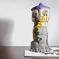Tangled Tower This is the tower from the movie Tangled. I carved the top our of styrofoam because the client had to move it a few times. It was a very...
