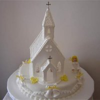 Iglesia Blanca all the decorations made by me was pastillage and gum paste, the cake is a dummy cake.
