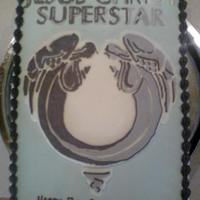 Jesus Christ Superstar Logo Cake My 7 year old son LOVES this musical! This was his request.