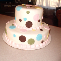 Muti-Colored Polka Dot Cake This cake was made to match the birthday girl's dress. It's covered in mmf.