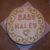 Baby Haley Ivory with sage and pink accents.