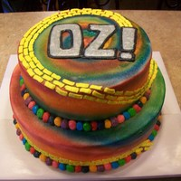 Oz! Cast party cake for a local play.