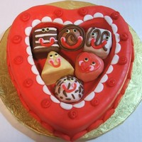 Valentine's Day Box Of Candies With Petit Four People