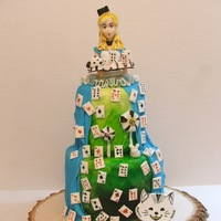 Alice With 52 Cards This is a alice in wonderland doll cake that I made based on a variety of inspirations. There are two cakes that measure 4 inches each. The...