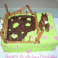 Horsing Around! My pretzel fence looked great, but fell apart as I was trying to add it to the cake. I'm still trying to figure out why. Family at the...