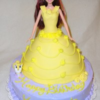 Belle Doll Cake Belle from Beauty and the Beast