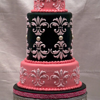 """anna"" I loved making this cake!!! Lots of firsts for me... First stenciling, tallest single fondant covered tier (the 6"" double barrel),..."