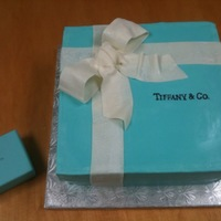 Tiffany Box Bridal Shower Cake This is a chocolate cake with white buttercream icing