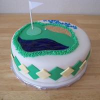 Golf Father's Day Fondant overlay, fondant and buttercream decorations, inspired by of CCers.