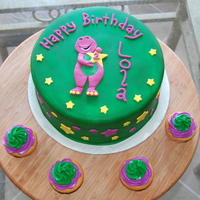 Barney Cake Barney is made with fondant and features are hand-painted