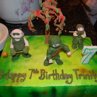Mini Ninjas Cake Made from the Mini Ninjas Video Game