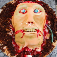 Decapitate Head everything made of fondant except brain which is marshmallow