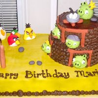 Angry Birds Angry Birds Cake made for a girl who's addicted to the game.