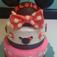 Minnie Mouse Cake I made this for a friend's little girl who is turning 2.