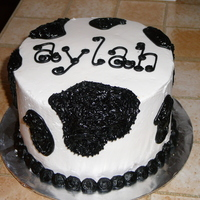 Cow Print this was a smash cake for a 1st birthday farm theme party
