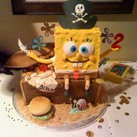 Spongebob Spongebob pirate themed cake.. all eatible