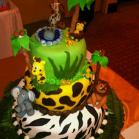 Safari Cake Made this for my Godson's 2nd birthday. Took ideas from Michellekayyy and Boloantiano. Was tired when I made the trees. Used candies...