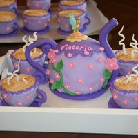 Tinkerbell Tea Party Birthday Cake For my niece's birthday