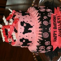Poodle Cake   Made this for a SIL of a dear friend. She owns standard black poodles.