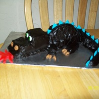 Dragon My kids helped with this cake. Just for fun.