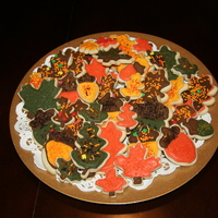 Fall Cookies Vanilla Sugar Cookies decorated using royal icing and fall sprinkles. I used different sizes of cookie cutters ranging from large, medium,...