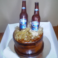 This Bud's For You! This cake was made for a client celebrating his 40th birhdy. Vanilla rum cake, with a passion fruit filling. I covered the cake with...