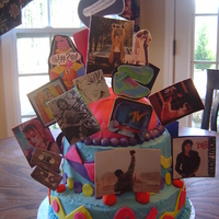 I Love The 80's B-Day This cake was inspired by USER-cambo. I wish it would have came out cleaner:( Didn't expect the icing to look like spackle. I am o.k....