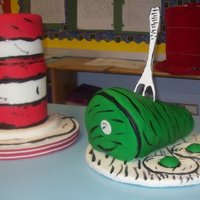Dr. Seuss Cakes Cakes I made for my neices class. Not very good pictures but I wanted to share anyway.