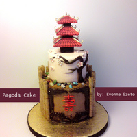Chinese Pagoda Cake remake of a previous cake that I've done