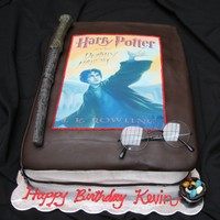 Harry Potter Book Cake Fondant with an edible image