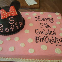 Kids Birthday   Mini Mouse Cake