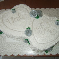 Bridal Shower   Silver & White Shower Cake