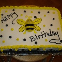 Bumblebee Cake White cake with buttercream icing