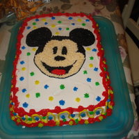 Mickey Mouse White cake with buttercream icing