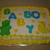 Baby Shower Cake white cake with buttercream/fondant