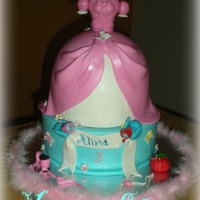 Cinderella Dress   This cake is insipired to the cinderella pink dress. I post the pic in the book... I love it!