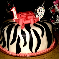 Zebra Print Cake Zebra Print cake, red velvet cake with strawberry filling!