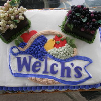 End Of Grape Season   my husband works for Welch's and so i was aked to create a cake for their end of Grape Season party... this is what they got!