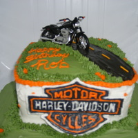 A Harley For My Dad  My father LOVES HArley Davidson Motorcycles... for his birthday he deserved a cake as special as he. The cake was a chocolate cake with...