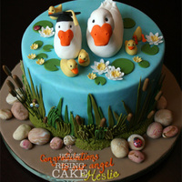 Duck Pond Cake  This was a last minute order for a girl's graduation. The girl loves ducks and her MIL (my client) wants grandchildren really badly so...