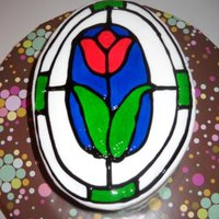 Stained Glass Flower My 1st attemp at making a stained glass look. Loved the way it turned out. Inspired by many on here. Thanks for the ideas!