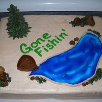 Gone Fishin' A retirement cake for someone that will now spend all of their free time fishing! :)