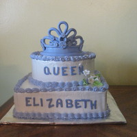 Queen Cake dominican cake with guava filling. all decorations are edible.